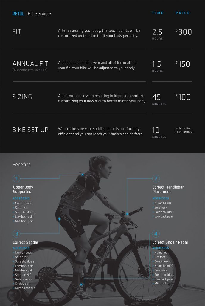 Bike Fit Menu